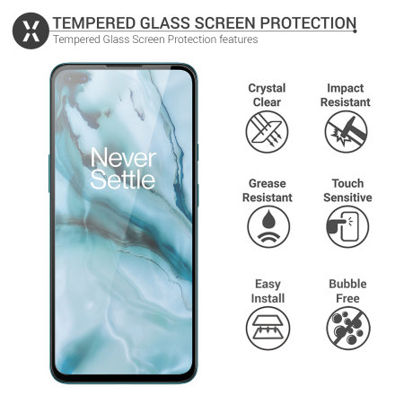 Olixar OnePlus Nord Tempered Glass Screen Protector