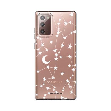 LoveCases Samsung Galaxy Note 20 Starry Design Case - White