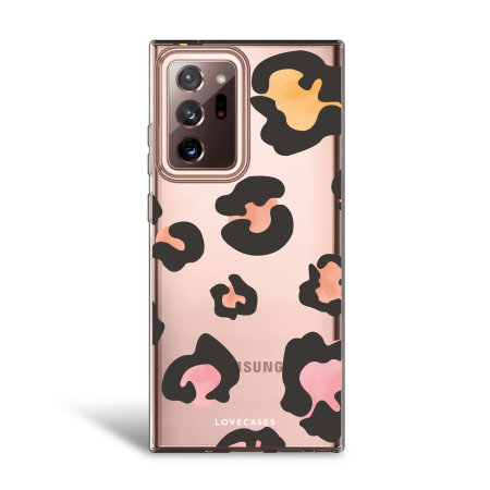 LoveCases Samsung Galaxy Note 20 Ultra Leopard Print Clear Case -Multi