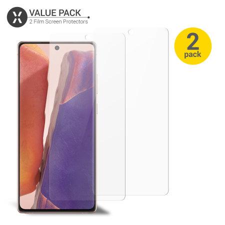 Olixar Samsung Note 20 5G Anti-Blue Light Film Screen Protector 2 Pack