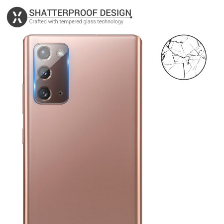 Olixar Galaxy Note 20 5G Tempered Glass Camera Protectors - 2 Pack