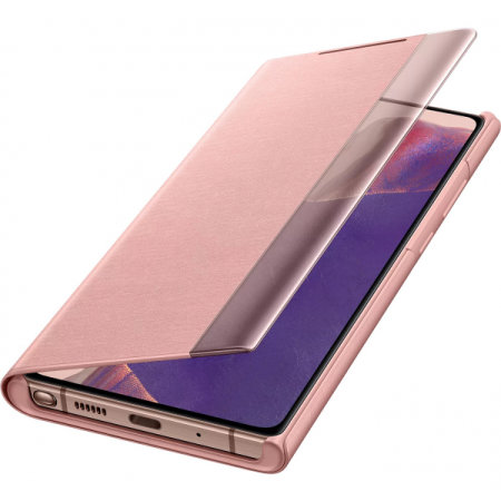 Official Samsung Galaxy Note 20 5G Clear View Case - Mystic Bronze