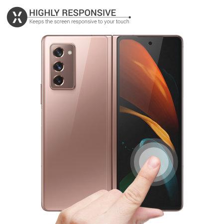 Olixar Front And Back Samsung Galaxy Z Fold 2 5G TPU Screen Protectors
