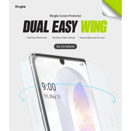 Ringke LG Velvet Dual Easy Dust Removal Film Screen Protector - 2 Pack