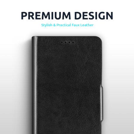 Olixar Leather-Style Google Pixel 5 Wallet Stand Case - Black