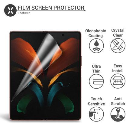 Olixar Samsung Galaxy Z Fold 2 5G Film Screen Protector 2-in-1 Pack