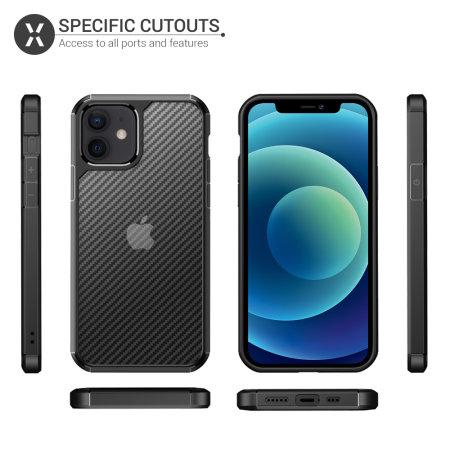 Olixar ExoShield Carbon iPhone 12 mini Bumper Case - Black