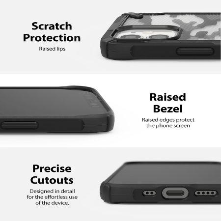Ringke Fusion X iPhone 12 mini Case - Black Camo