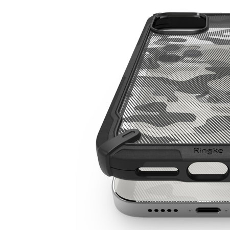 Ringke Fusion X Design iPhone 12 Pro Case - Camo Black