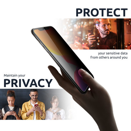 Olixar iPhone 12 Pro Privacy Tempered Glass Screen Protector