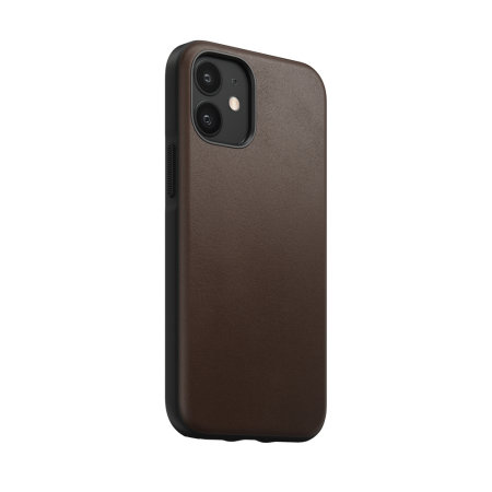 Nomad iPhone 12 mini Rugged Protective Leather Case - Rustic Brown