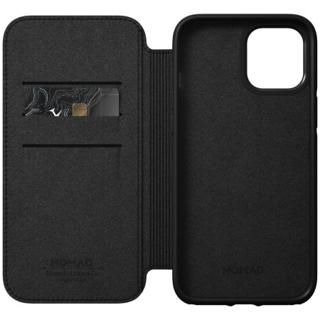 Nomad iPhone 12 Pro Max Rugged Folio Protective Leather Case - Black