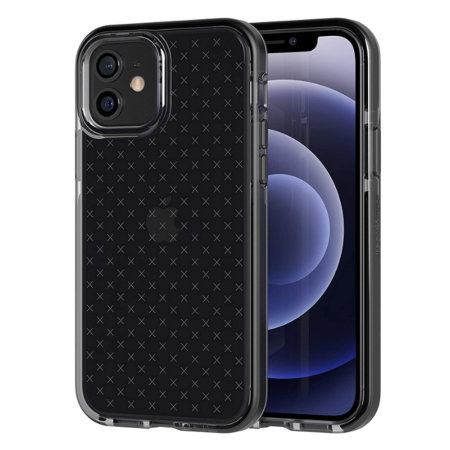 Tech 21 iPhone 12 Evo Check Case - Smokey Black