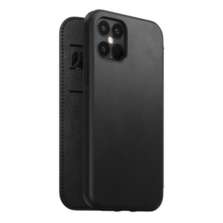 Nomad iPhone 12 Pro Rugged Folio Protective Leather Case - Black