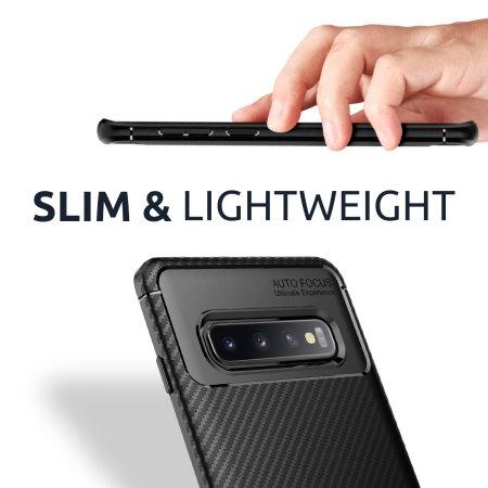 Olixar Sony Xperia 5 II Carbon Fibre Protective Case - Black