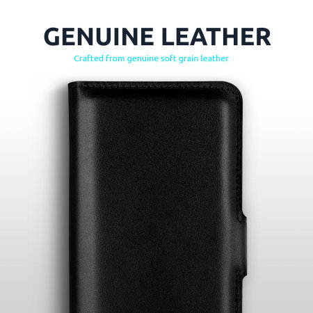 Olixar Sony Xperia 5 II Genuine Leather Wallet Stand Case - Black