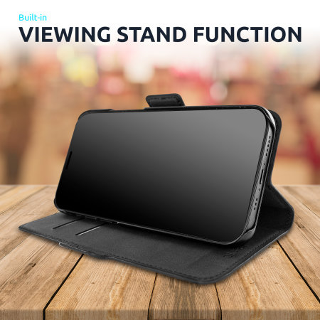 Olixar Genuine Leather Samsung Galaxy S20 FE Wallet Case - Black