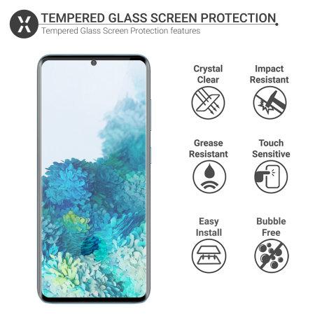 Olixar Samsung Galaxy S20 FE Tempered Glass Screen Protector