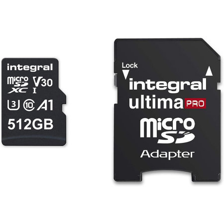 Integral 512GB Micro SDXC High-Speed Mermory Card - Class 10