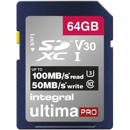 Integral 64GB Micro SDXC High-Speed Mermory Card - Class 10