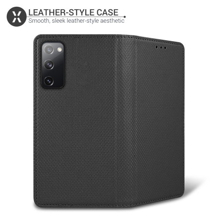 Samsung Galaxy S20 FE Smart Magnet Wallet Leather-Style Case - Black