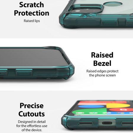 Ringke Google Pixel 5 Fusion X Tough Case - Turquoise Green