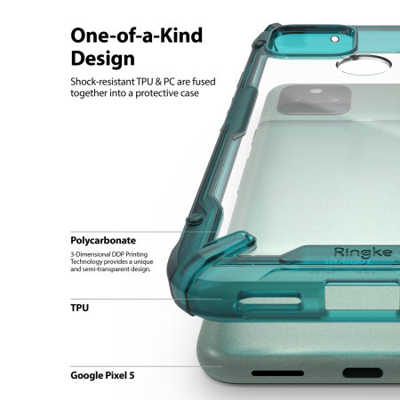 Ringke Google Pixel 5 Fusion X Tough Case - Turquoise Green