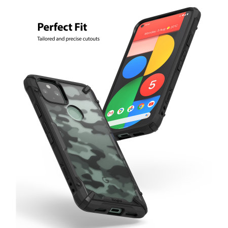 Ringke Google Pixel 5 Fusion X Tough Case - Camo Black