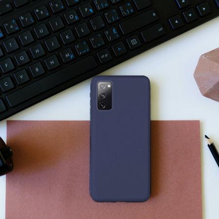 Olixar Samsung Galaxy S20 FE Soft Silicone Case - Midnight Blue