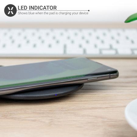 Olixar iPhone 12 Slim 10W Fast Wireless Charging Pad - Black