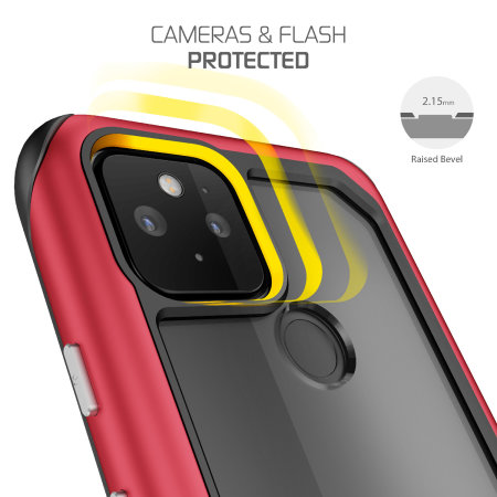Ghostek Atomic Slim 3 Google Pixel 5 Case - Red Aluminum