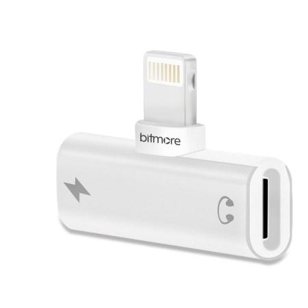 Bitmore 2 in 1 iPhone / iPad Lightning Splitter - Silver