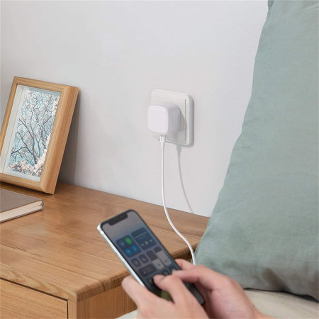 iPhone 12 Pro 18W USB-C Super Fast PD Wall Charger - UK Plug - White