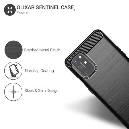 Olixar Sentinel Oneplus 8T Case & Glass Screen Protector - Black