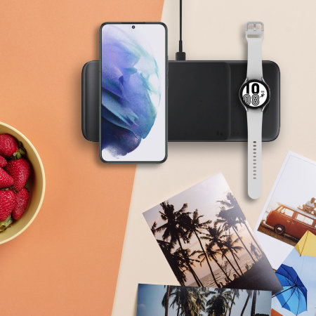 Official Samsung Galaxy S20 Plus Wireless Trio Charger - Black