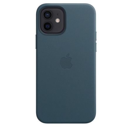 Official Apple iPhone 12 mini Leather Case With MagSafe - Baltic Blue