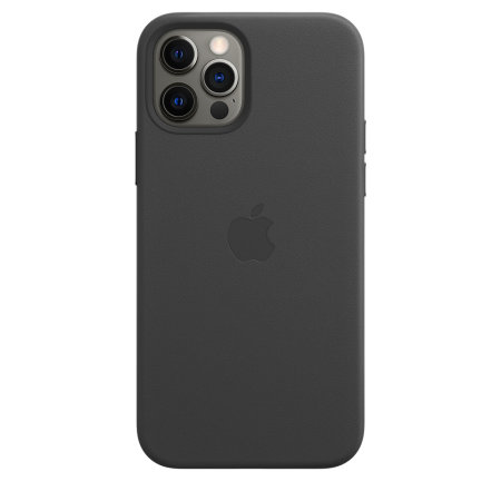 Official Apple iPhone 12 Pro Max Leather Case with MagSafe - Black