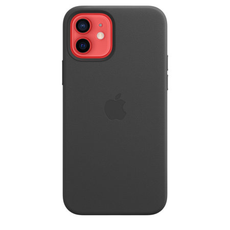 Official Apple iPhone 12 Genuine Leather Case with MagSafe - Black