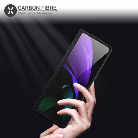 Olixar Carbon Fibre Samsung Galaxy Z Fold 2 5G Case - Black