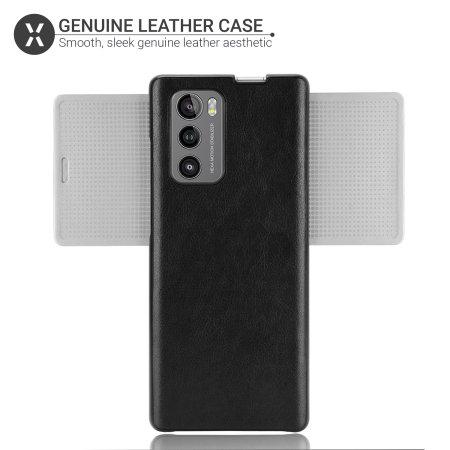 Olixar Genuine Leather LG Wing 5G Case - Black