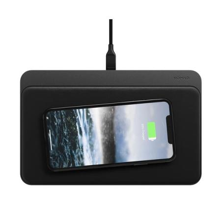 Nomad Base Station Pro Trio 3-in-1 Fast Wireless Charging Pad - Black