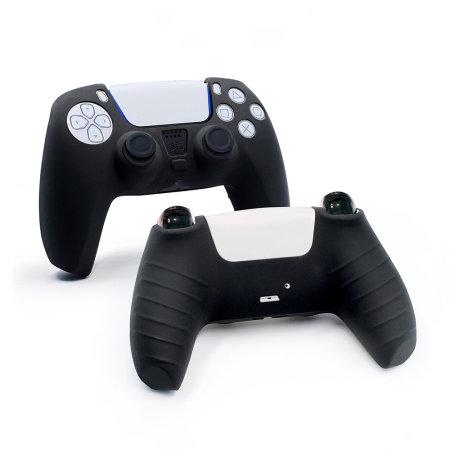 Olixar PS5 Controller Soft Silicone Case - Black