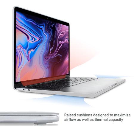 "Olixar ToughGuard Macbook Pro 13"" 2018 Hard Shell Case - Clear"