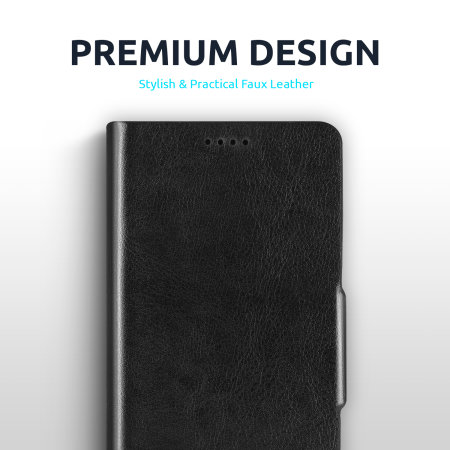 Olixar Leather-Style Samsung Galaxy S21 Wallet Stand Case - Black