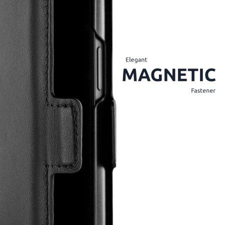 Olixar Genuine Leather Samsung Galaxy S21 Wallet Stand Case - Black