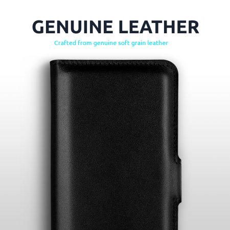 Olixar Genuine Leather Samsung Galaxy S21 Ultra Wallet Case - Black
