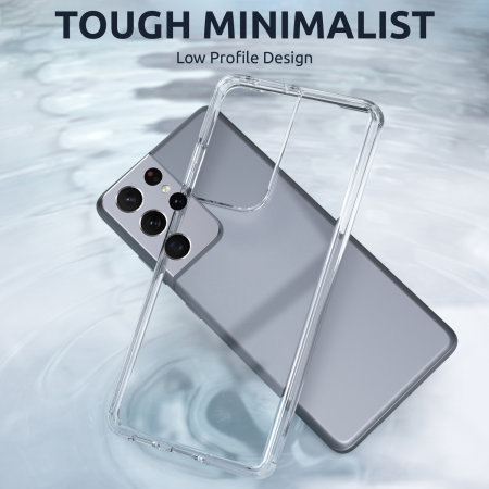 Olixar Antibacterial NovaShield Samsung S21 Ultra Bumper Case - Clear