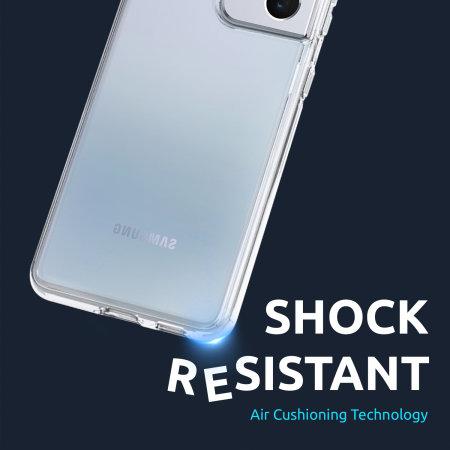 Olixar Antibacterial NovaShield Samsung Galaxy S21 Bumper Case - Clear
