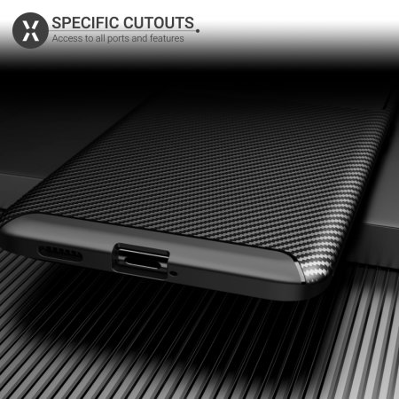 Olixar Carbon Fibre Samsung Galaxy S21 Ultra Protective Case - Black