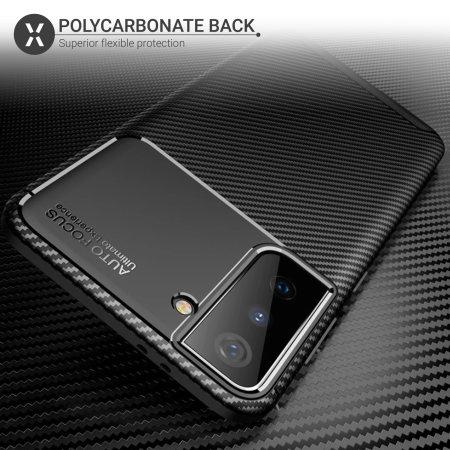 Olixar Carbon Fibre Samsung Galaxy S21 Protective Case - Black